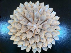 Paper Cone Wall Art @ Watkins Glen Public Library | Denver | Colorado | United States