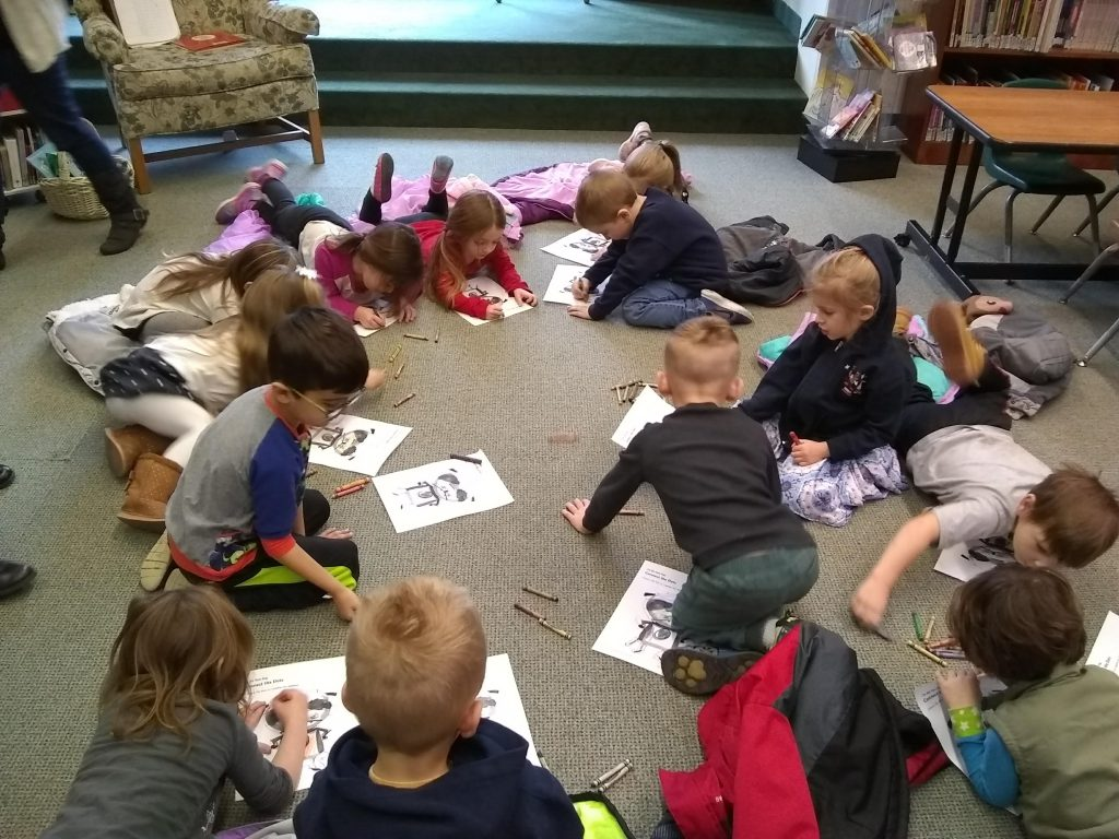 children during story hour