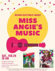 flyer for Miss Angie's Music event