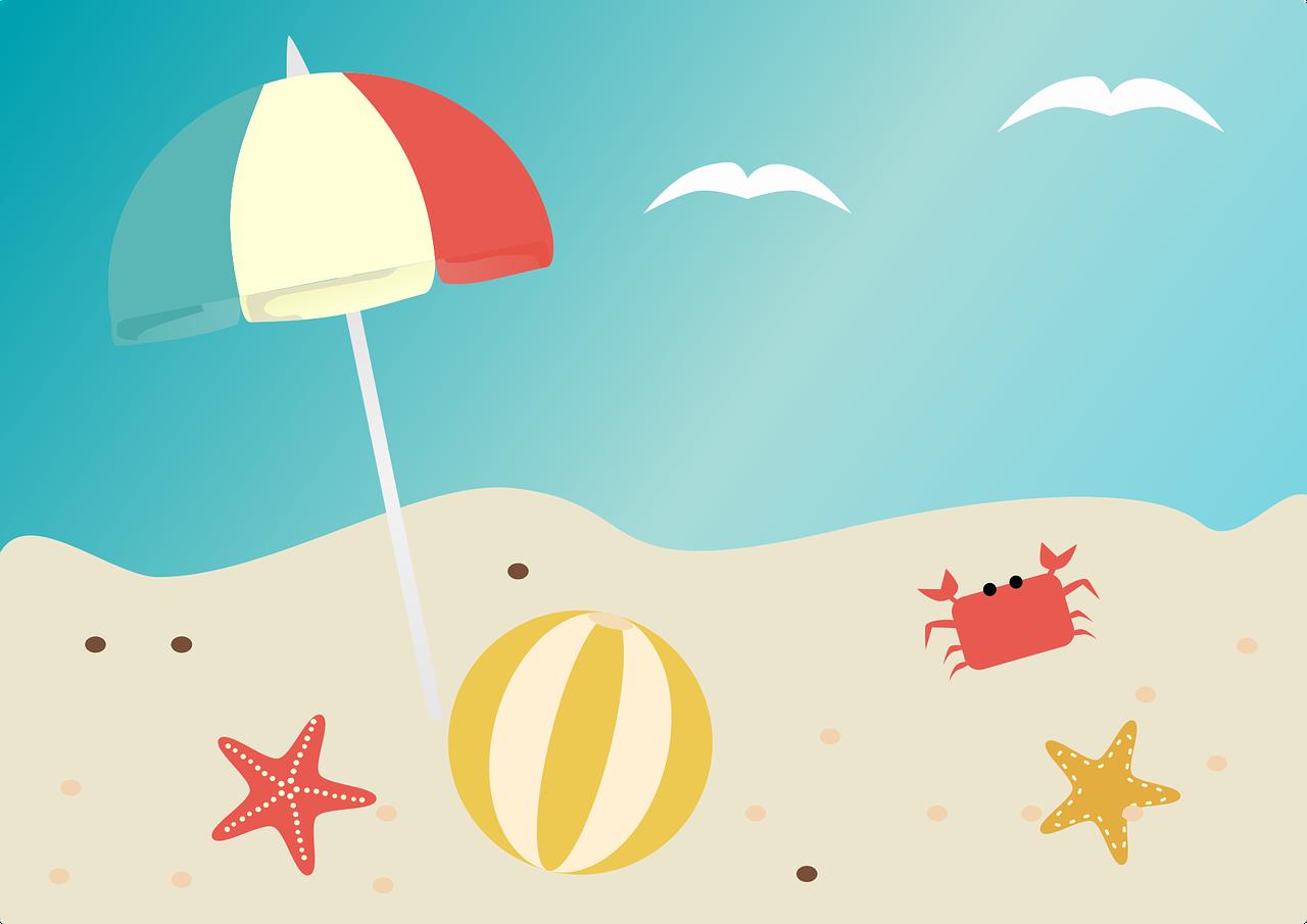 beach, summer, beach ball