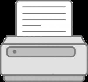 computer, printer, paper